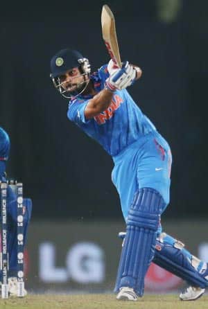 Virat Kohli's patience was tested on a sluggish wicket with some accurate bowling from the Sri Lankans © Getty Images