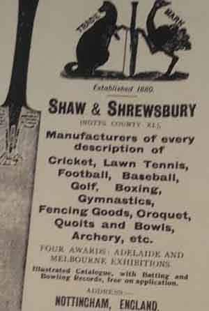 On a trip to North America in the late 1880s, a sports store called 'Shaw and Shrewsbury' was setup by Arthur Shrewsbury and his friend © Getty Images