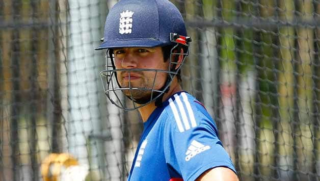 Alastair-Cook-of-England-looks-on-during-an-England-nets-session-a