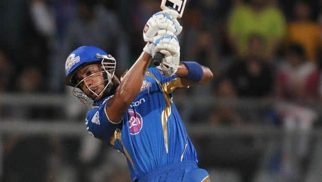 Lendl Simmons compiled a fine knock for Mumbai Indians against Rajasthan Royals in IPL 2014 © IANS (File Photo)