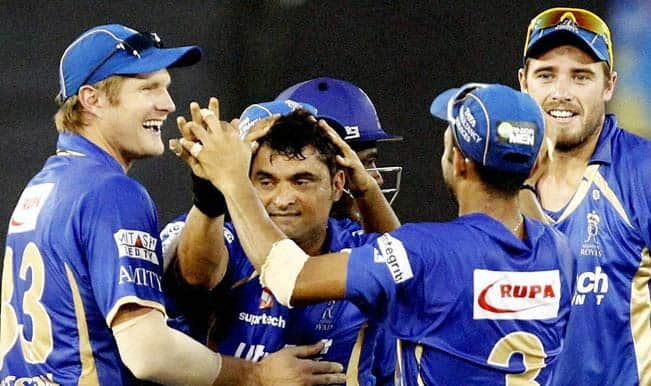 Rajasthan Royals are sitting pretty at the third spot in the IPL 2014 points table © PTI