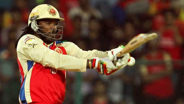 Chris Gayle looked in good tocuh during his brief stay in the game against Sunrisers Hyderabad in IPL 7 © IANS (File Photo)