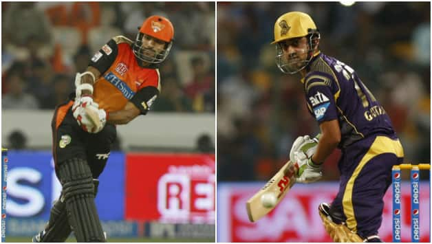 Shikhar Dhawan (left) and Gautam Gambhir will be looking to get some runs themselves on a batsman-friendly track at Hyderabad © IANS