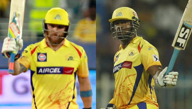 Brendon McCullum (left) and Dwayne Smith have been the most destructive opening pair in IPL 2014 © IANS