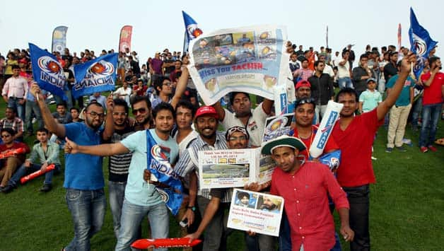 Fans at Sheikh Zayed Cricket Stadium seemed to enjoy the buzz of the IPL in Abu Dhabi © IANS