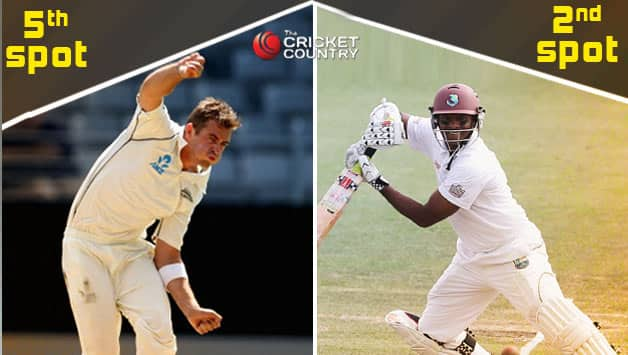 Tim Southee (left) and Shivnarine Chanderpaul © Getty Images