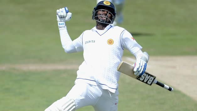Angelo Mathews slammed a century in the second Test © Getty Images