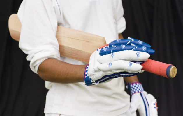 Alan Revill went back to play defensively and was struck a painful blow on the right glove. As the ball dropped in front of him, he winced, took his right hand off the handle and shook the glove off © Getty Images (Representational Pic)