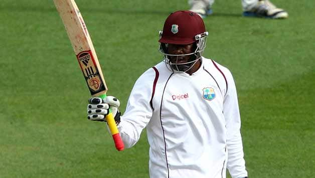 Kirk Edwards was at the crease with Darren Bravo © Getty Images