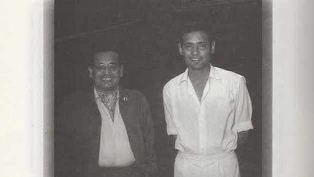 Pankaj Roy (left) with Ambar Rao. Photo Courtesy: courtesy: Pranab Roy