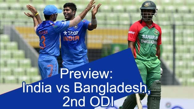 India bowlers kept a tight leash on the Bangladesh top order early on © AFP