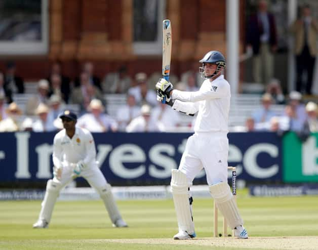 Stuart Broad (batting) played a breezy knock © Getty Images