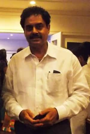 Dilip Vengsarkar at the launch of his website