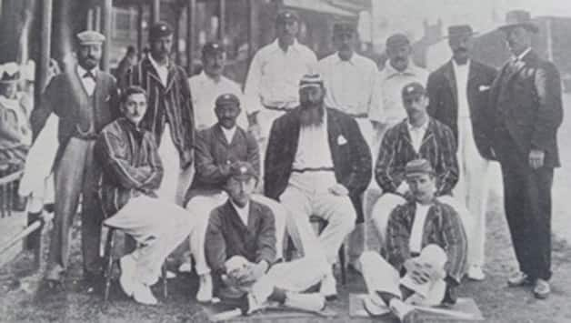 WG Grace is seen here sitting in the centre.