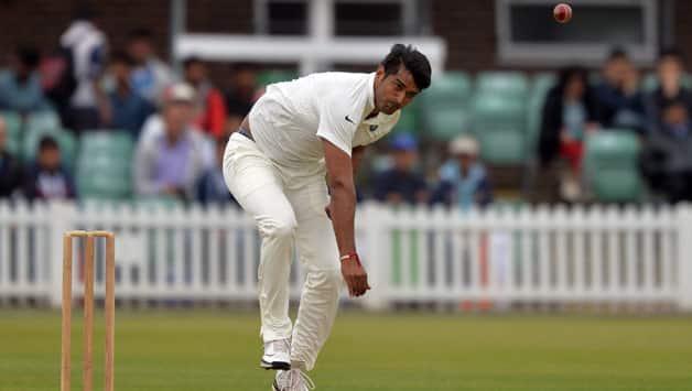 Pankaj SIngh claimed the wicket of MAtthew Boyce © AFP