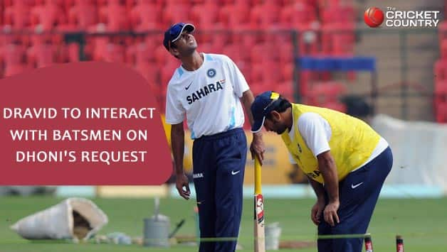 Rahul Dravid not appointed as batting consultant by BCCI; to interact with batsmen on MS Dhoni's request