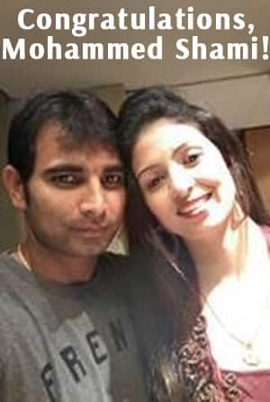 Mohammed Shami with wife Haseen Jahan. Photo courtesy Shami's fan club on Facebook.