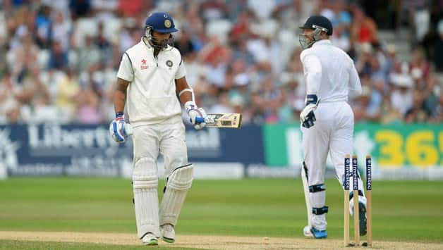 Murali Vijay (left) was dismissed against the run of play © Getty Images