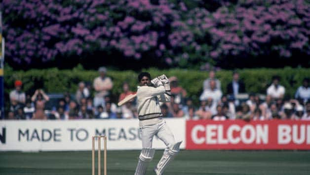 Each of Kapil Dev's four sixes were hit high and straight over the bowler's head © Getty Images