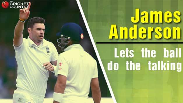 James Anderson celebrates the dismissal of India batting star Virat Kohli © Getty Images