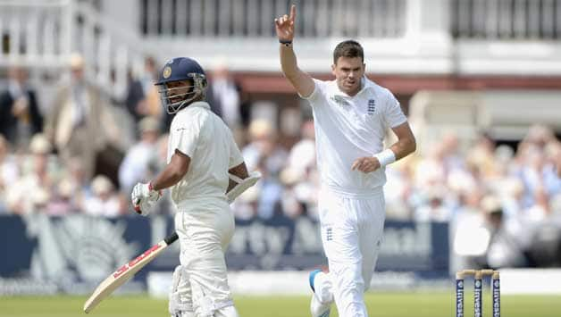 James Anderson (right) dismissed Shikhar Dhawan yet again © Getty Images (File Photo)