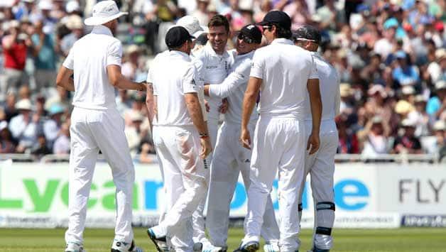 James-Anderson-of-England-celebrates-the-wicket-of-Murali-Vijay--25