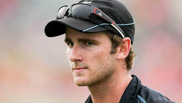 Kane Williamson bowls part-time off spin © Getty Images