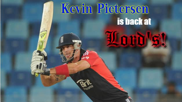 Kevin Pietersen will return to Lord's as a player after nearly a year © Getty Images