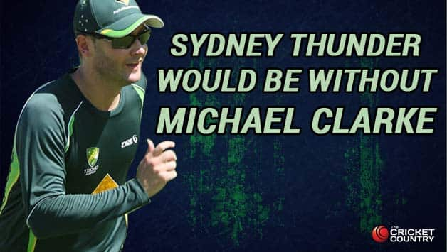 Sydney Thunder will miss the services of Michael Clarke during the 2014-15 season Michael Clarke © Getty Images