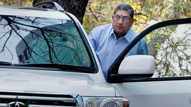 """N Srinivasan (above) called his visit to former BCCI vice-president Arun Jaitley a """"courtesy call"""" © PTI"""