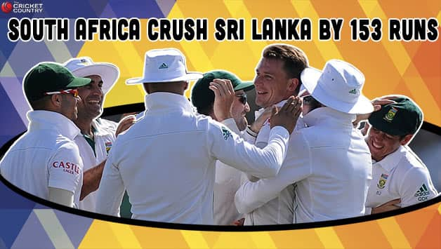Dale Steyn snared nine wickets in the match to win the man of the match award © AFP