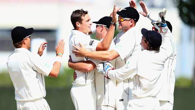 Tim-Southee-of-New-Zealand-celebrates-the-wicket-of-Marlon-Samuels-of-the-West-Indies-with-his-team-during-da