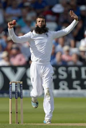 Moeen Ali picked the key wickets of Rohit Sharma and Ajinkya Rahane in the first innings of the Southampton Test © Getty Images