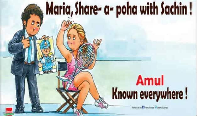 Amul's ad about the Maira Sharapova-Sachin Tendulkar controversy.