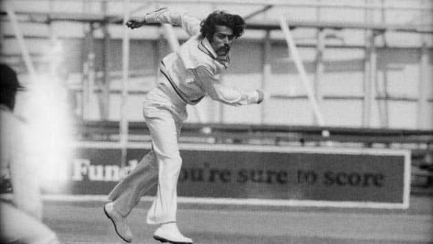 Bhagwath Chandrasekhar bowled a magical spell against England at the Oval in 1971 © Getty Images