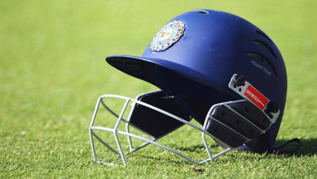 An-Indian-helmet-is-pictured-during-day-three-of-the-Second-Test-match-between-Engla
