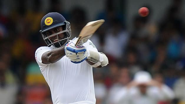 Angelo Mathews remained unbeaten on 43 at the end of Sri Lanka's second innings © AFP (File Photo)