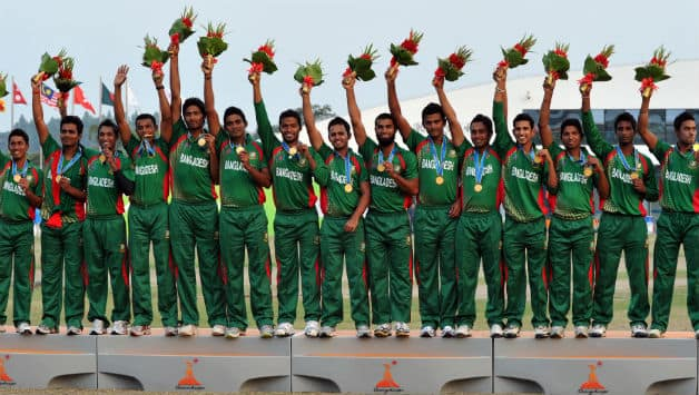 Bangladeshi team won the Gold Medal in cricket in 2012 Asian Games © AFP