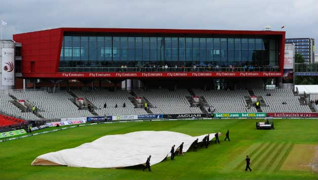 Old Trafford is one of only two grounds where an entire Test has been washed out without a single ball being bowled © Getty Images