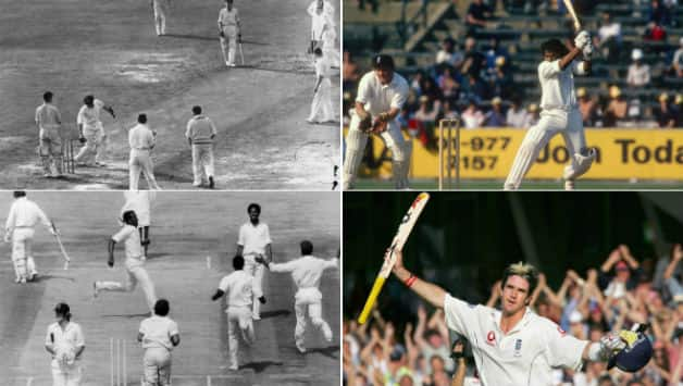 (Clockwise from top left) Don Bradman's final Test innings, Sunil Gavaskar's 221 in 1979, Kevin Pietersen's 158 in Ashes 2005 and Michael Holding's monster spell © Getty Images