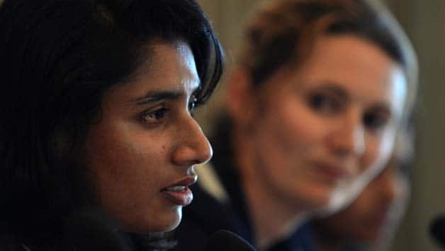 Mithali Raj (left) and Charlotte Edwards will captain India and England respectively in the forthcoming Test and One-Day Internationals © AFP (File Photo)