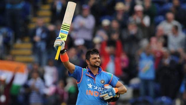 Suresh Raina was one of the four centurions on Wednesday when he hit a 75-ball 100 against England at Cardiff © Getty Images