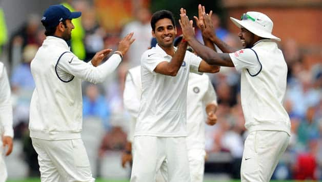 Bhuvneshwar Kumar has been a bright spot in the series so far with consistent performances with both bat and ball. He is the leading wicket-taker among Indian bowlers in the series so far © Getty Images
