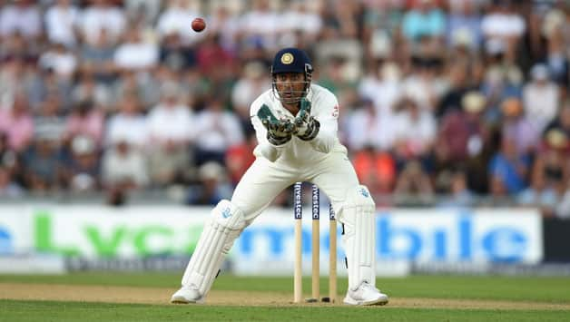 India-wicketkeeper-M.S.-Dhoni-in-action-during-day-two-of-the-3rd-Investec-Test-at-Ageas-Bowl