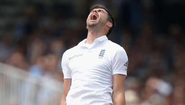 James-Anderson-of-England-celebrates-dismissing-Murali-Vijay-of-India