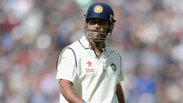 Sunil Gavaskar praised MS Dhoni for his knock of 82 in India's first innings in the last Test © Getty Images