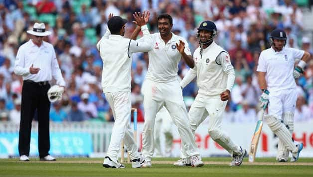 Ravichandran Ashwin picked two wickets onm Day two © Getty Images