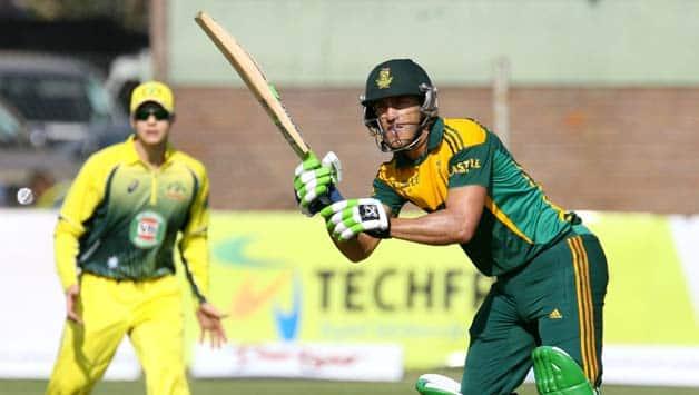 Faf du Plessis scored a match-winning century in the second ODI © AFP