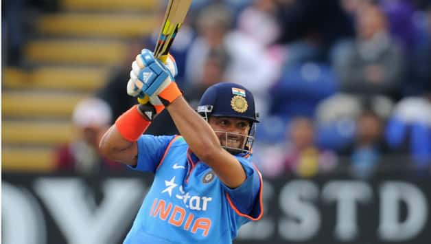 Suresh Raina scored his first ton outside the subcontinent © Getty Images