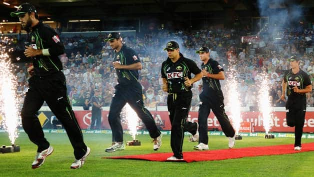 The-Australian-team-run-out-to-field-during-game-three-of-the-International-Twent